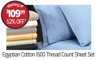 Egyptian Cotton 1500 Thread Count Sheet Set - Starting at: $109.99 - 52% off‡