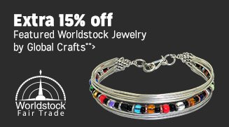 Extra 15% off Featured Worldstock Jewelry by Global Crafts**