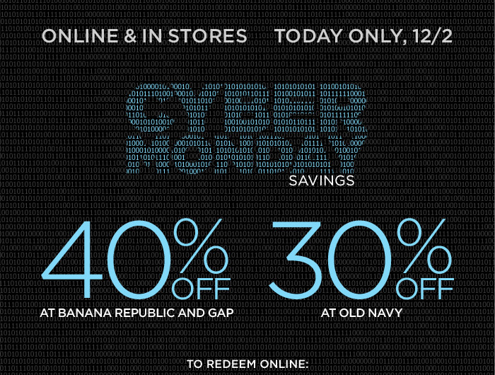 ONLINE & IN STORES |  ENDS TODAY, 12/2 | CYBER MONDAY SAVINGS