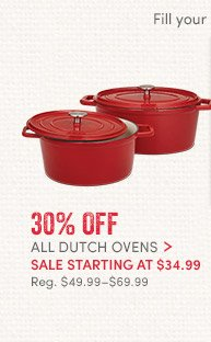 All Dutch Ovens - 30% off