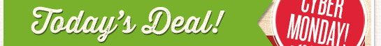 Today's Deal - Monday, 12/2 Only! 20% off Everything Online!