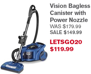 Vision Bagless Canister with Power Nozzle