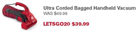 Ultra Corded Bagged Handheld Vacuum