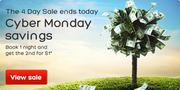 4 Day Sale - get the 2nd night for $1*