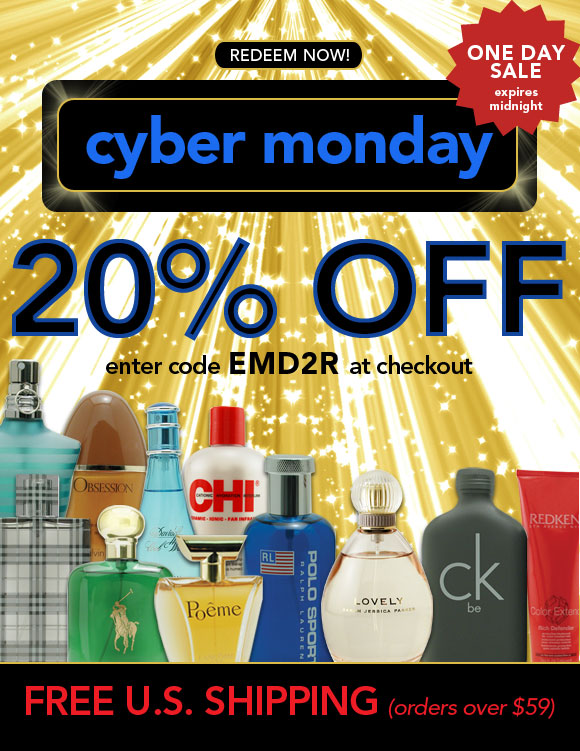20% Off any order - Cyber Monday Sale