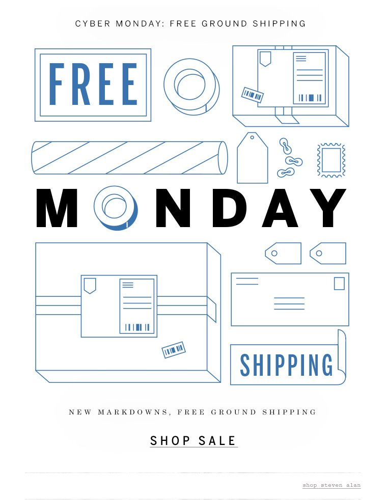 Cyber Monday: Free Ground Shipping
