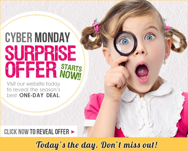 Click to reveal Cyber Monday Surprise Offer