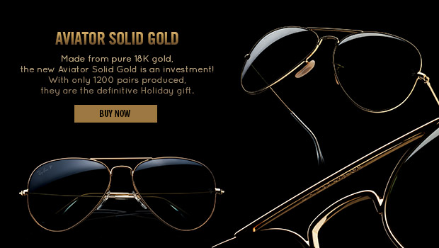 New Aviator Solid Gold: the definitive Holiday gift.