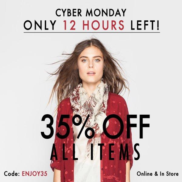 Cyber Monday! Use Code ENJOY35 at checkout
