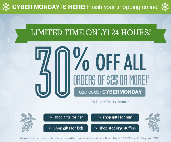 Don't Wait - 30% Off $25+ Still On!
