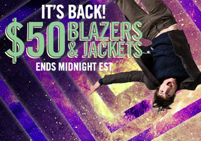 Shop $50 Blazers & Jackets are BACK