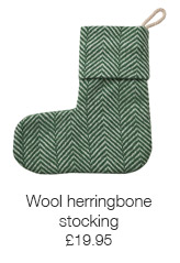 Wool herringbone stocking
