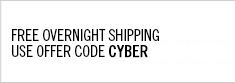 Free Overnight Shipping. Use offer code CYBER at checkout.