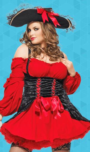 Vixen Pirate Wench Adult Plus Costume