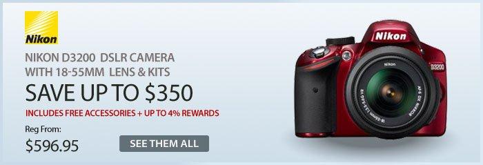Adorama - Nikon D3200 DSLR Cameras With 18-55mm Lens & Kits