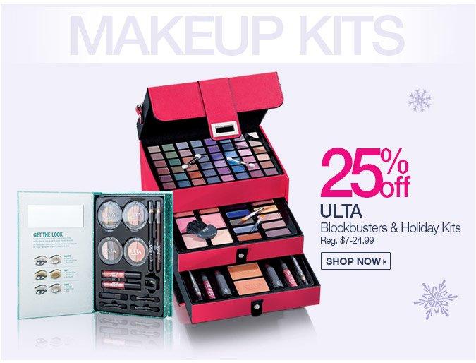 25% off ULTA Blockbuster and Holiday Kits.