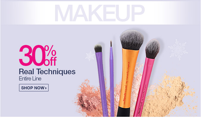 30% off Real Techniques Brushes