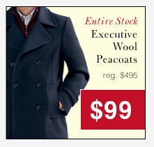 Executive Wool Peacoats - $99 USD