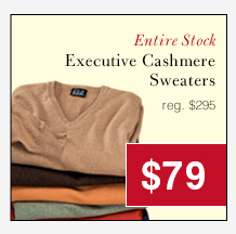 Executive Cashmere Sweaters - $79 USD