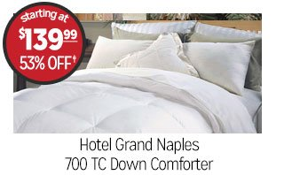 Hotel Grand Naples 700 TC Down Comforter - Starting at: $139.99 - 53% off‡