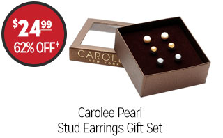 Carolee Pearl Stud Earrings Gift Set - $24.99 - 62%‡