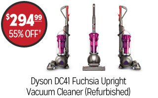 Dyson DC41 Fuchsia Upright Vacuum Cleaner (Refurbished) - $294.99 - 55% off‡