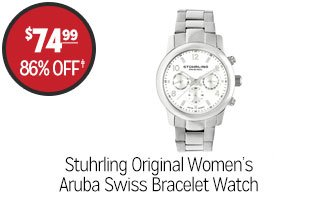 Stuhrling Original Women's Aruba Swiss Quartz Bracelet Watch - $74.99 - 86% off‡