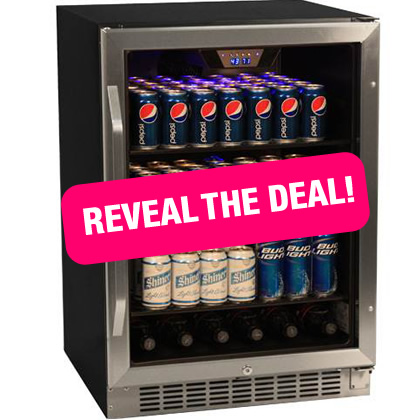 EdgeStar 148 Can Stainless Steel Beverage Cooler