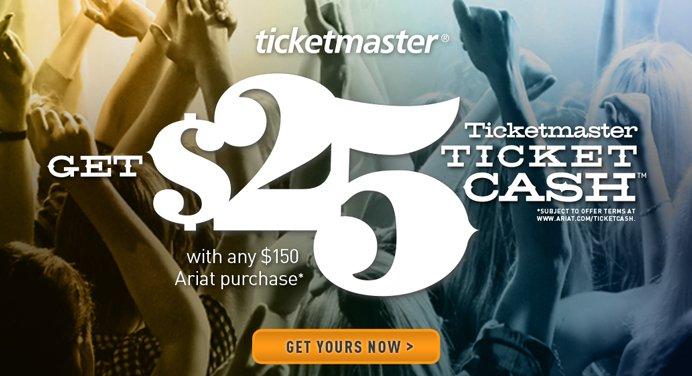 Get $25 Ticketmaster Ticket Cash