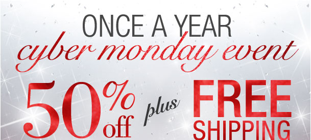 Cyber Monday Event! 50% off your highest price item + Free shipping! Use RDMONDAY