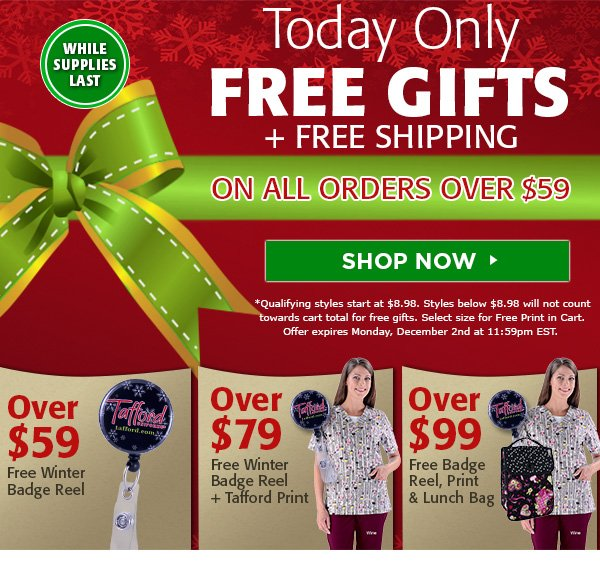 FREE Gift + FREE Shipping with orders starting at $59 - Shop Now
