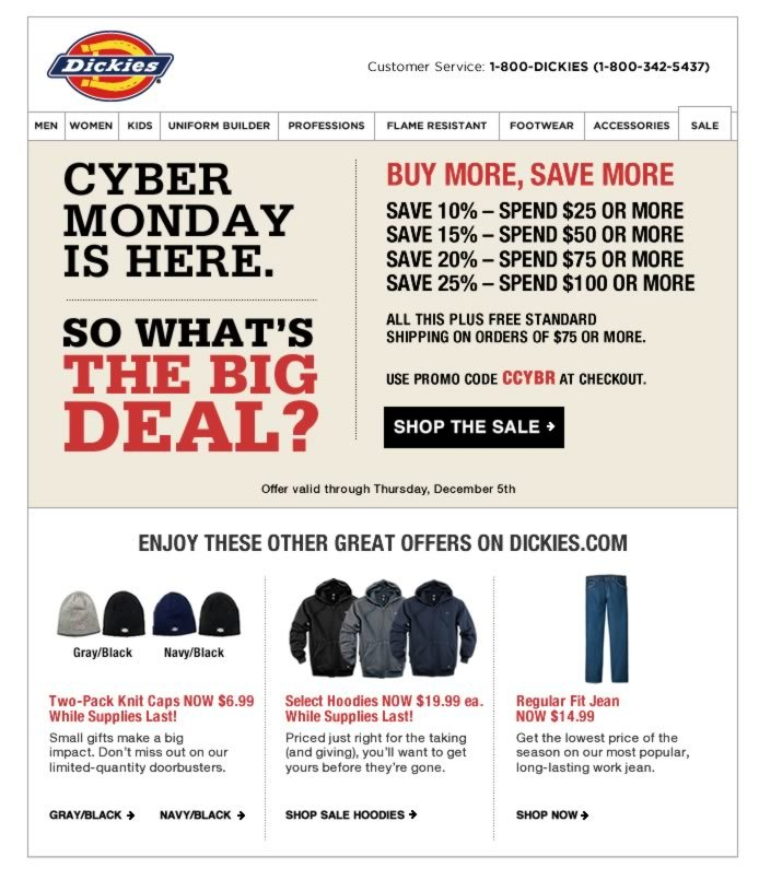 Cyber Monday is here. What's the BIG DEAL? Take 25% off your order of $100 or more with promo code CCYBR.