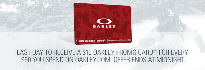 8d09f1f331 Oakley  Cyber Monday   10 Promo Card + 20% Off On All Tees   Fleece ...