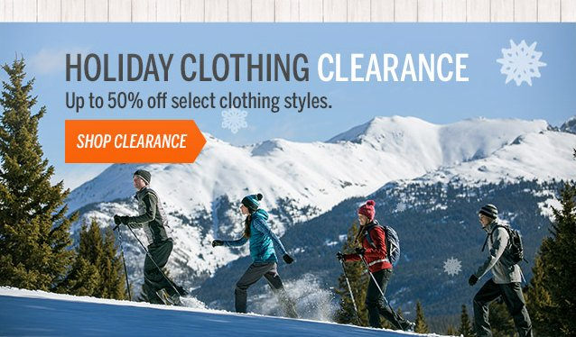HOLIDAY CLOTHING CLEARANCE: 50% OFF SELECT STYLES