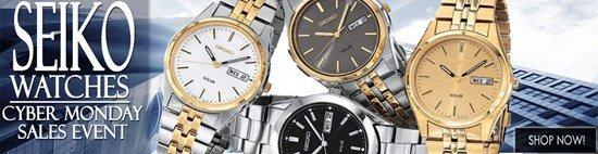 Cyber Monday Celebration: Save big on Seiko watches!