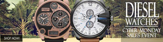 Cyber Monday Celebration: Save big on Diesel watches!
