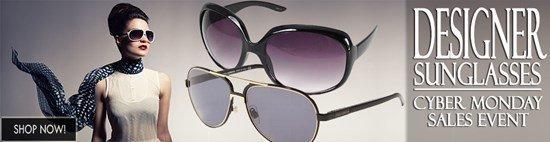 Cyber Monday Celebration: Save big on Designer Sunglasses!