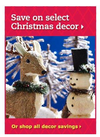 Save on select Christmas decor