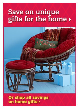 Save on unique gifts for the home