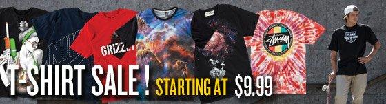 T-Shirt Sale: Starting at $9.99!