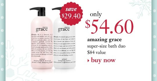amazing grace only $54.60 ($84 value, $29.40 savings)