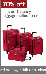 70% off luggage.