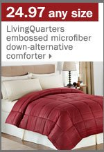 24.97 any size LivingQuarters comforter.