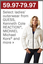 59.97-79.97 select ladies' outerwear.