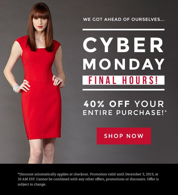 Cyber Monday: FINAL HOURS