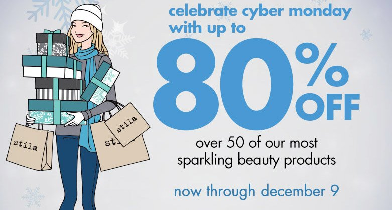 celebrate cyber monday with up to 80% off over 50 of our most sparkling beauty products. Now through december 9.