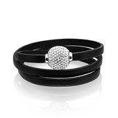 Arezzo Pallina Leather Bracelet  Black