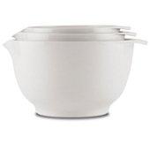 Rosti Margrethe bowl 3-pack, White 1.5L + 2L + 3L