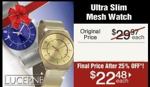 Ultra Slim Mesh Watch