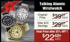 Talking Atomic Wristwatch